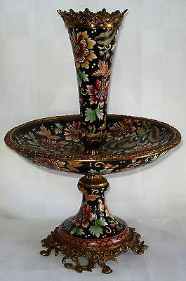 Florally Decorated Porcelain And Gilt Ormolu Epergne