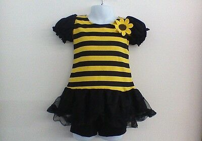 Dance Costume Small Child BumbleBee Dress Yellow Solo Competition Pageant Glitz