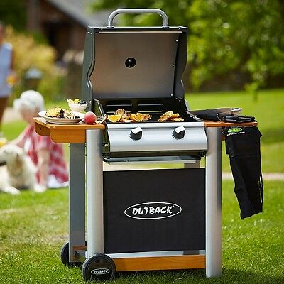 Outback Spectrum 2-Burner Gas Barbecue BBQ Outdoor Heating Garden Brand New