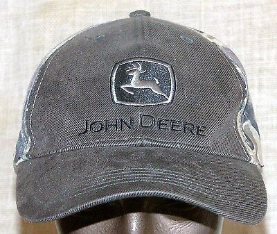 "John Deere Cap Hat Camo Olive Drab ""Nothing Runs Like a Deere"" Embroided on Back"