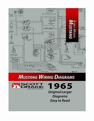 New! 1965 Ford MUSTANG Wire Diagram Manual Larger Easy to Read Print Exploded
