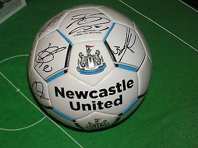 NUFC Crested Football Signed by 15 Newcastle United FC 2016/17 Season Players