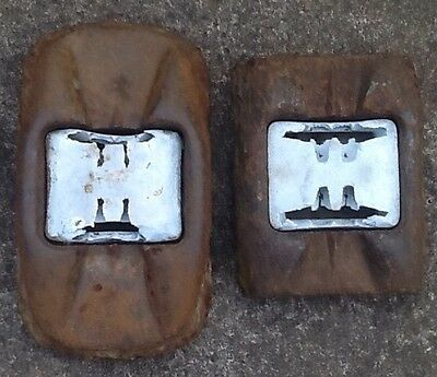 vintage cast iron cats eyes motorway Lights
