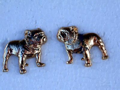 Vintage Mack Truck Bull Dogs Left & Right Gold Plated Pins