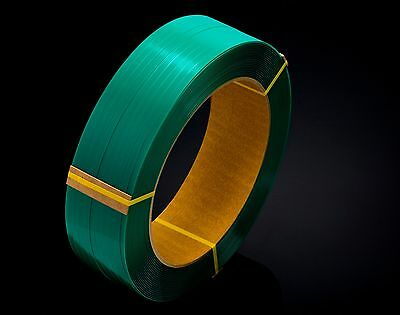 2 RollPET Green Polyester Strapping Smooth 19mm x 800M 1mm thick Direct Importer
