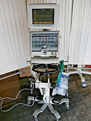 BIRD AVS VENTILATOR SYSTEM & Monitor with Rolling cart and Accessories.