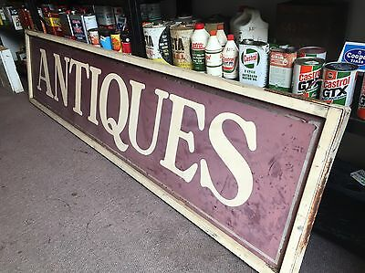 Antiques Genuine Wooden Double Sided Sign