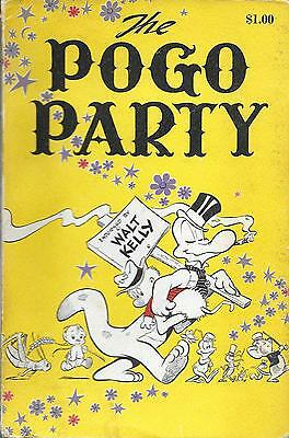 The Pogo Party. Nice Condition. 1 St. Printing. 1956  Softcover. Walt Kelly