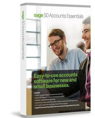 New & Sealed Sage 50 Accounts Essentials 2016 Version 22 (Boxed Product)