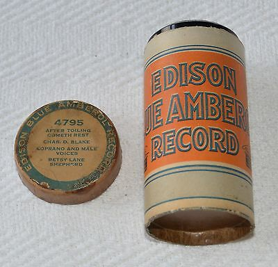 Edison Blue Amberol Cylinder Record #4795 - After Toiling Cometh Rest