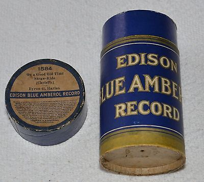 Edison Blue Amberol Cylinder Record #1584 - On A Good Old Time Straw-Ride