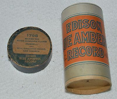 Edison Blue Amberol Cylinder Record #1798 - Where The River Shannon Flows