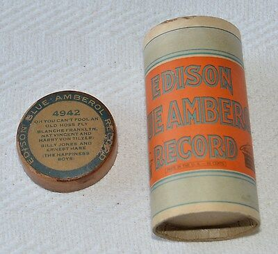 Edison Blue Amberol Cylinder Record #4942 - Oh You Can't Fool An Old Hoss Fly