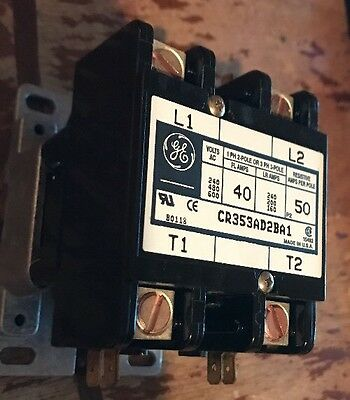 GE  Relay  CR353AD2BA1  40A  240V  600V  3Ph  120V Coil