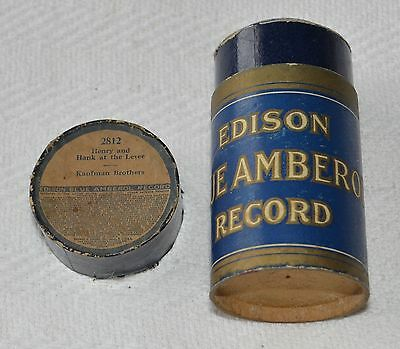 Edison Blue Amberol Cylinder Record #2812 - Henry And Hank At The Levee
