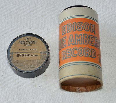 Edison Blue Amberol Cylinder Record #2817 - Along The Rocky Road To Dublin