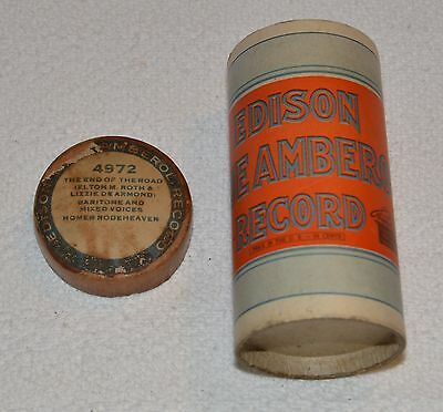 Edison Blue Amberol Cylinder Record #4972 - The End Of The Road