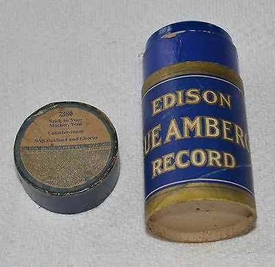 Edison Blue Amberol Cylinder Record #2380 - Stick to Your Mother, Tom