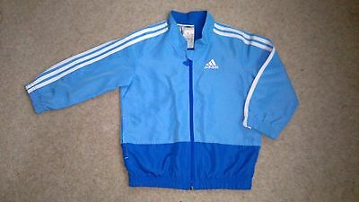 18-24 Month Adidas Sports Jacket – Shower-Proof Light Blue With Trademark Strips