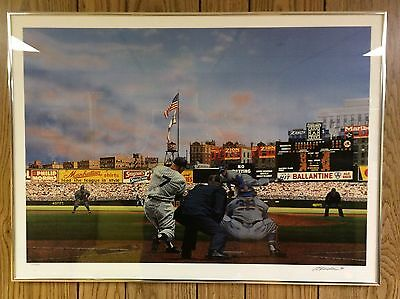 Mickey Mantle NY Yankees Seven Up Classic Purdom FRAMED ART PRINT 1996 Excellent
