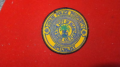 Police Patch  -  Miami Police Property Specialist  , Florida - US