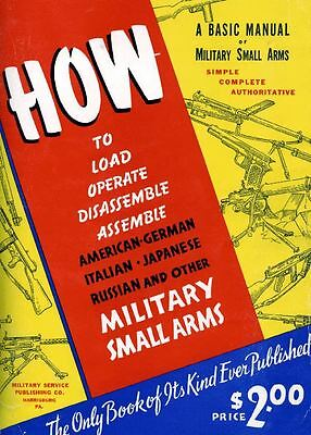 How to Load Operate Disassemble Small Arms WWII 1943 PDF Manual CD