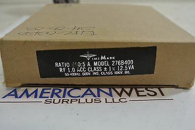 Time Mark Model 276B400 ratio 400:5 Current Transformer NEW IN BOX