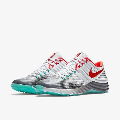 Nike Lunar Trout 2 Trainer Turf Shoes Cleats Size 9 White Turquoise Red