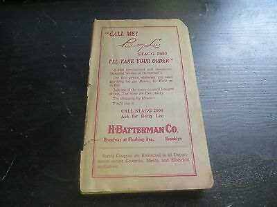 """Rare Antique Batterman """"SURETY COUPON"""" Collection Book  Half Size Quickly Filled"""