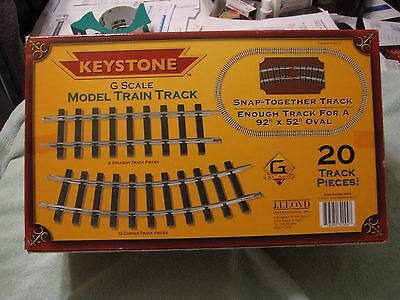 Keystone G gauge model train track
