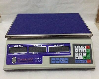 40KG Digital Price Computing Retail Weight Scale Shop Commercial Market Grocery