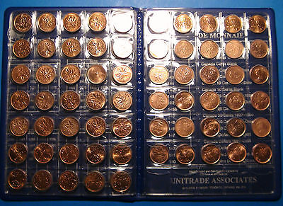 Collection of Canada SMALL CENTS COINS 1920-2012 - High Quality PENNIES SET!