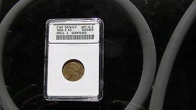 1856-S $3.00 Gold Scarce Small S Variety