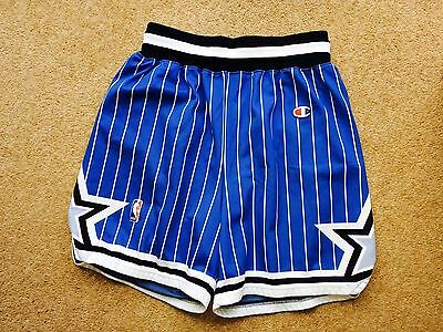 Orlando Magic Vintage Retro NBA Basketball Shorts by Champion - Blue Adult L