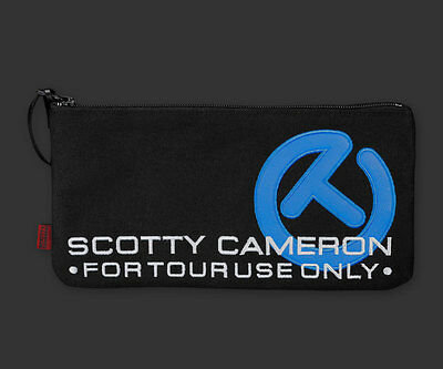 2017 Scotty Cameron Canvas Cash Bag Circle T Turbo Blue Black Hula Release CT