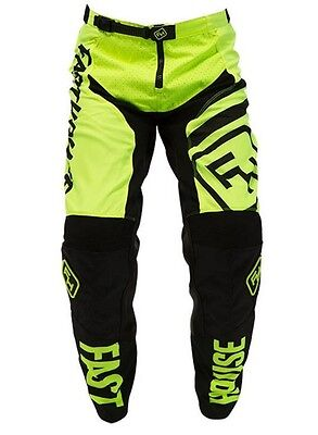 Fasthouse Speed Style Black / Fluro Yellow Mx Pants Motocross