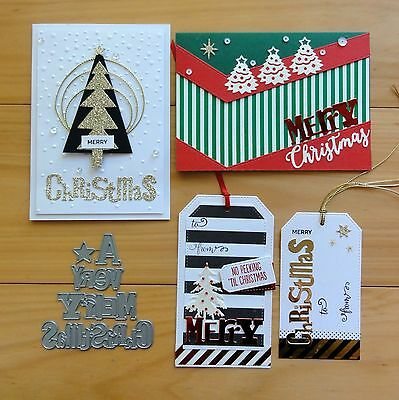 """IMPRESSION OBSESSION """"A VERY MERRY CHRISTMAS"""" LARGE SENTIMENT Cutting Die BNIP"""