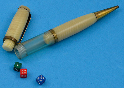 Vintage Mechanical Pencil with Three Integral Dice