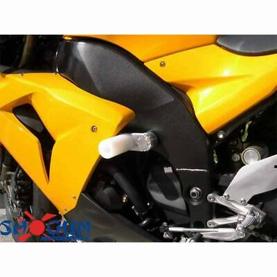 SHOGUN FRAME SLIDERS KAWASAKI NINJA 250R 08-12 White NO CUT FREE ...