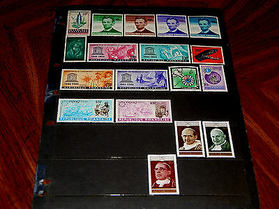 Rwanda stamps for sale - 18 mint hinged and used early stamps - nice !!