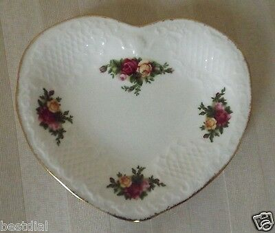 1962 Royal Albert Old Country Roses Bone China  Heart Plate.