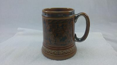 Lord Nelson Hand Crafted In England Beer Stein W/Patrons in Bar and Saying