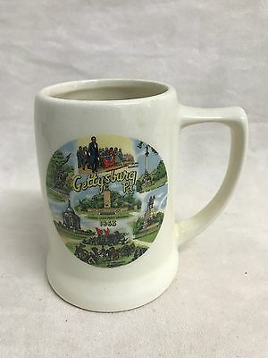 Ceramic Made In Usa Gettysburg Stein