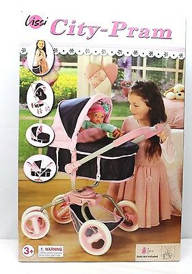 Doll Stroller By Lissi Detachable Carrycot & Beauty Bag Color: Pink & Navy  Nwb