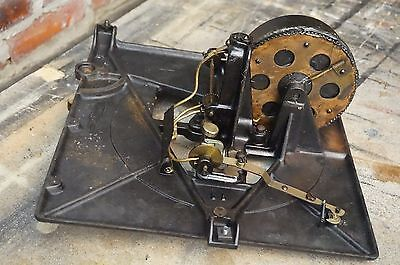 Antique Thomas A. Edison Diamond Disk Player motor & bedplate For Parts Model S