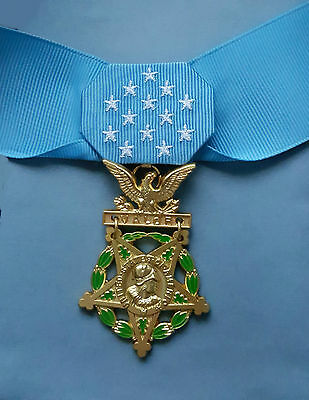 US Army MEDAL OF HONOR and RIBBON - Full Size - American WW2 Replica Award