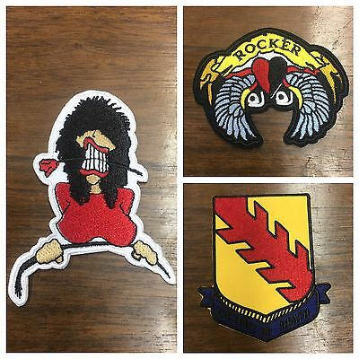 3 Patches; Lady, Rocker & Vic or Death; Inspired by Axl and Slash; Guns N' Roses