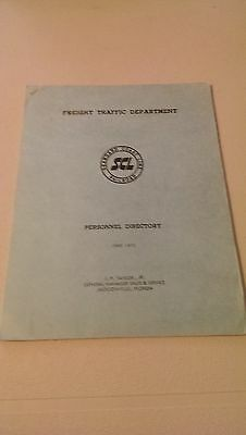 SCL Seaboard Coast Line Railroad Freight Traffic Dept. Personnel Directory 1972