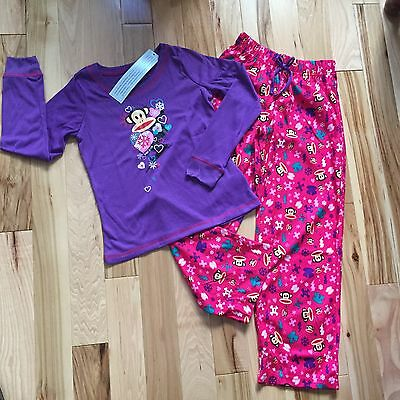 NWT PAUL FRANK 2 Pc Pajama Set Girls Sz Small 6-7