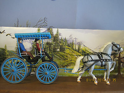 Vintage Anchor Buggy Horse And Surrey Model Horse Custom Stuart Horses Collecter